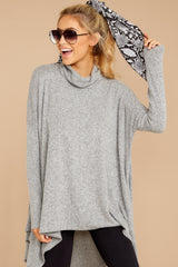 2 These Days Grey Top at reddressboutique.com