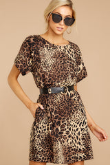 Still My Moment Leopard Print Dress at reddressboutique.com
