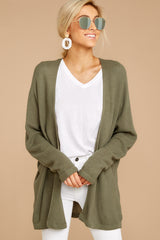 6 You'll Be Mine Moss Green Knit Cardigan at reddressboutique.com