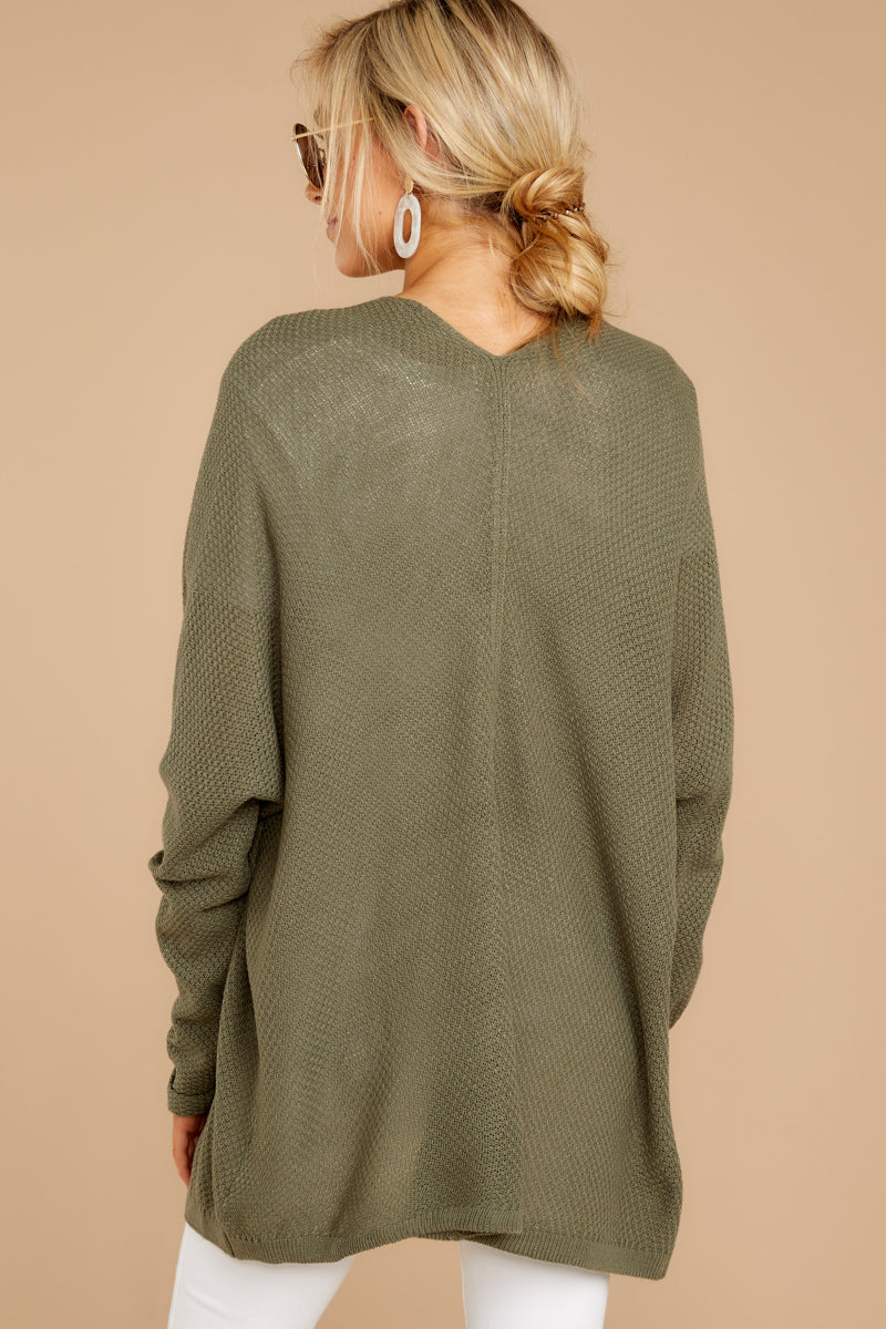 7 You'll Be Mine Moss Green Knit Cardigan at reddressboutique.com