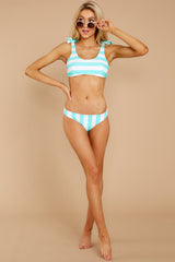 1 Coastal State Of Mind Island Blue Stripe Bikini Top at reddressboutique.com
