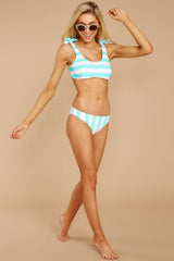 3 Coastal State Of Mind Island Blue Stripe Bikini Top at reddressboutique.com