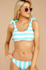 4 Coastal State Of Mind Island Blue Stripe Bikini Top at reddressboutique.com