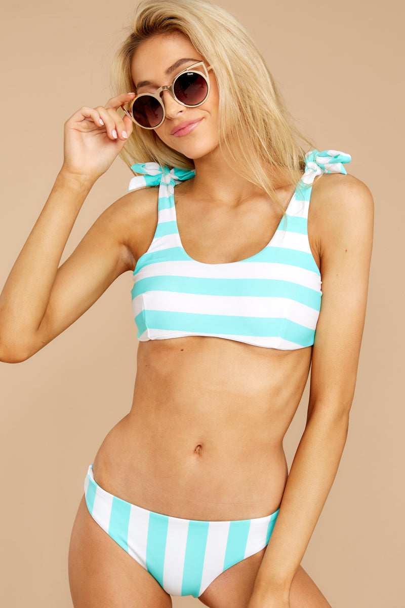 5 Coastal State Of Mind Island Blue Stripe Bikini Top at reddressboutique.com