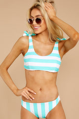 6 Coastal State Of Mind Island Blue Stripe Bikini Top at reddressboutique.com
