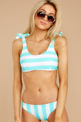 7 Coastal State Of Mind Island Blue Stripe Bikini Top at reddressboutique.com
