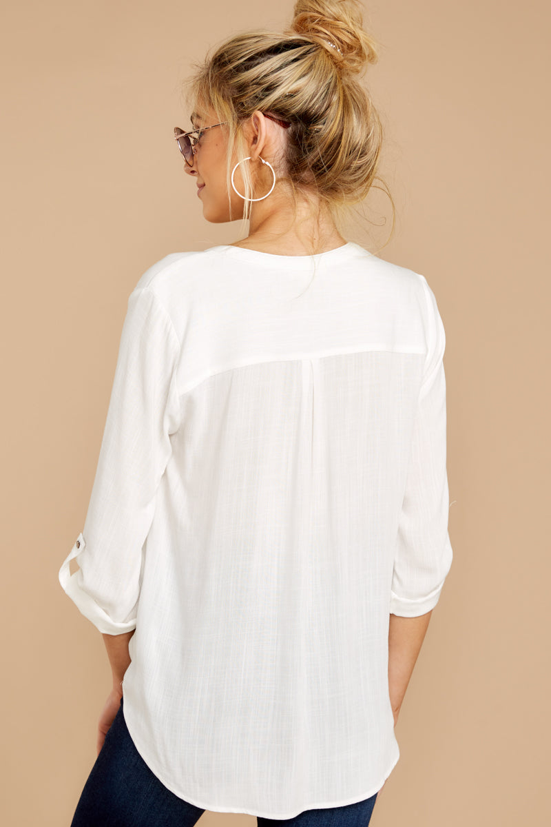 5 Stay For Me White Top at reddressboutique.com