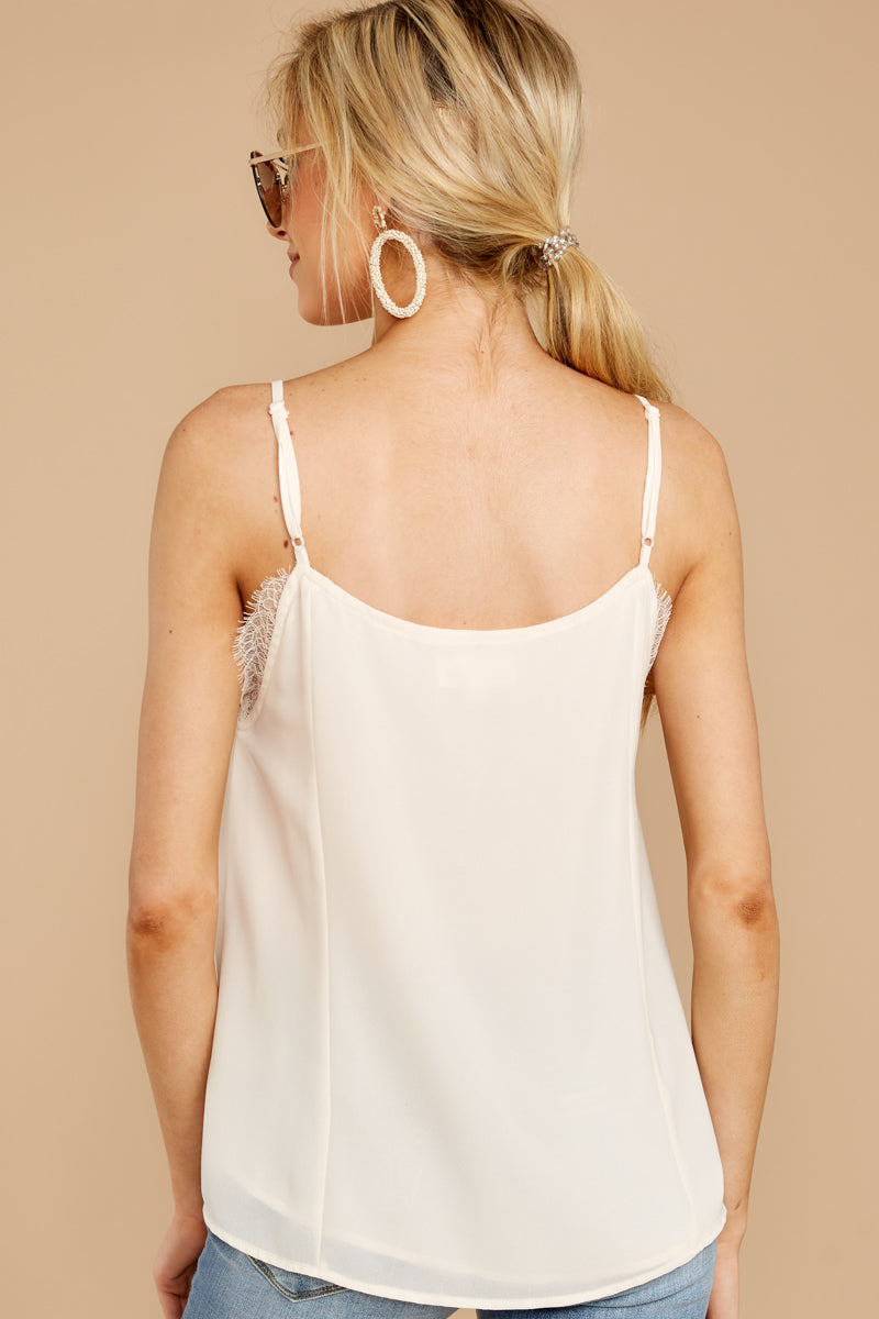 6 Lace To Meet You Cream Tank Top at reddressboutique.com