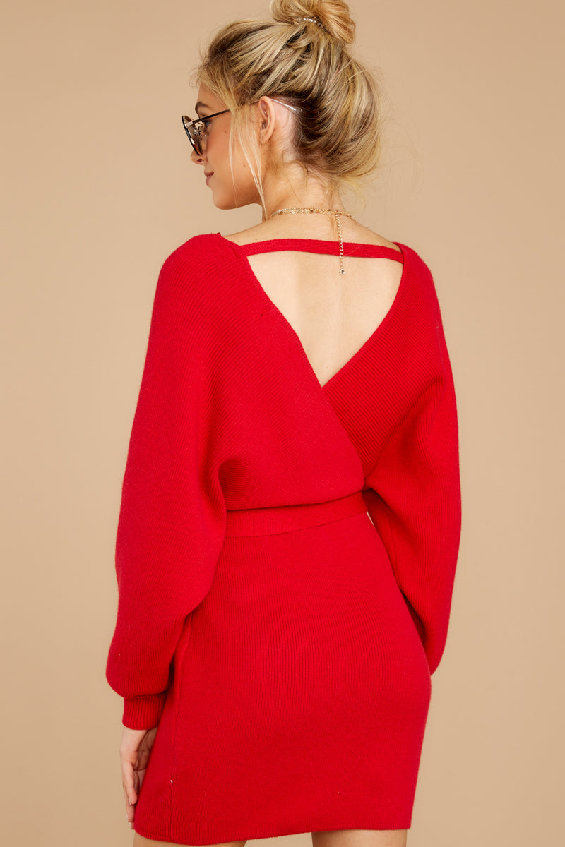 6 Think About It Red Sweater Dress at reddress.com