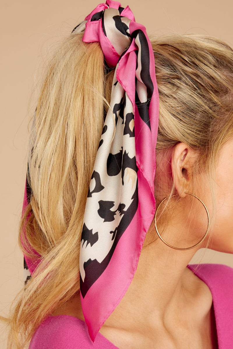 2 Pounce On It Hot Pink Leopard Print Scarf at reddressboutique.com