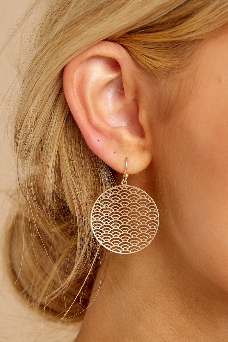 Listen To The Music Gold Earrings
