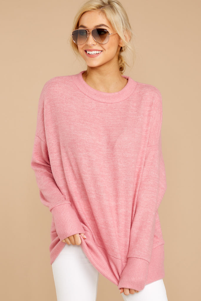 11 Wandering Through Winter Light Pink Sweater at reddressboutique.com