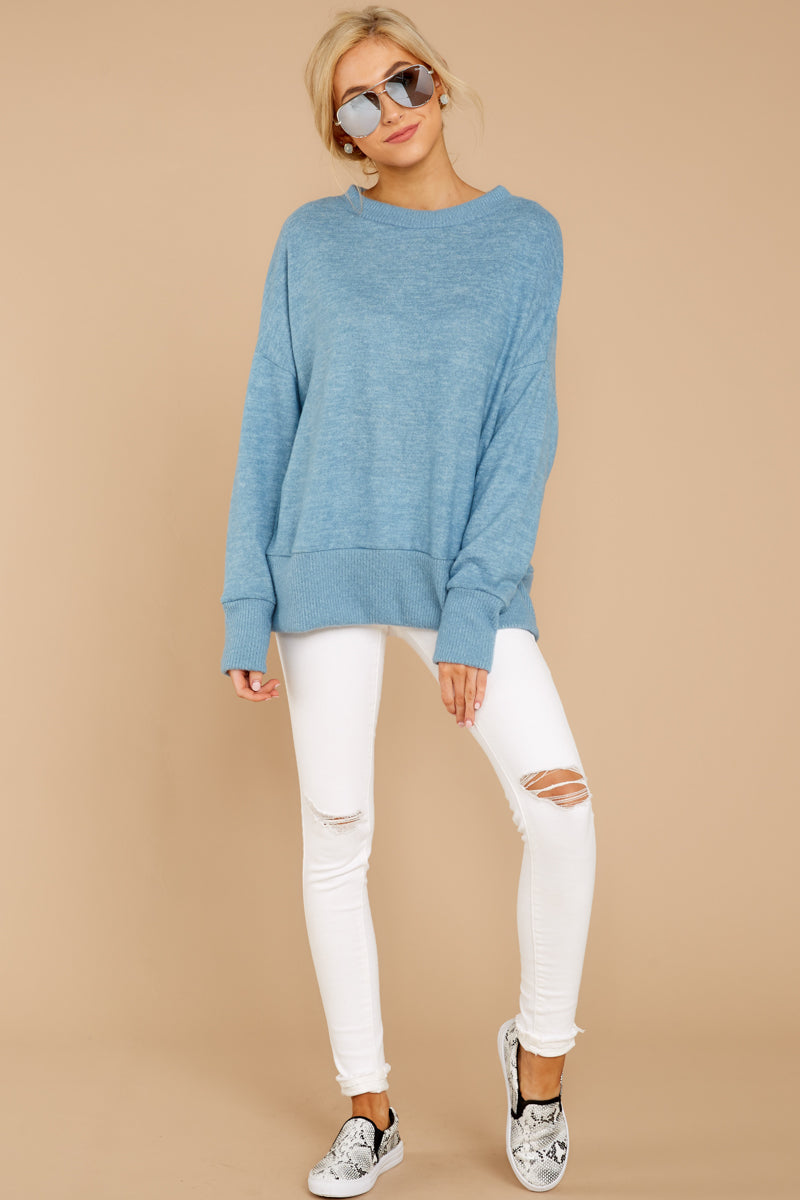 1 All Day Together Horizon Blue Sweater at reddressboutique.com