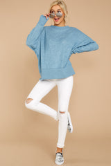 2 All Day Together Horizon Blue Sweater at reddressboutique.com\