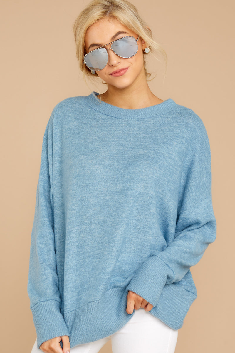 3 All Day Together Horizon Blue Sweater at reddressboutique.com