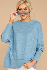 4 All Day Together Horizon Blue Sweater at reddressboutique.com