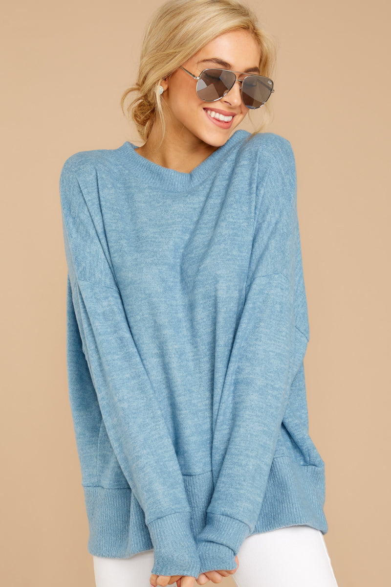 5 All Day Together Horizon Blue Sweater at reddressboutique.com