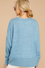 6 All Day Together Horizon Blue Sweater at reddressboutique.com
