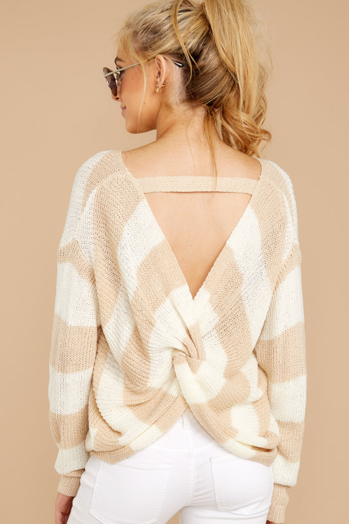 8 All Shook Up Beige Sweater at reddressboutique.com