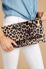 4 This Wild Life Light Leopard Clutch at reddressboutique.com