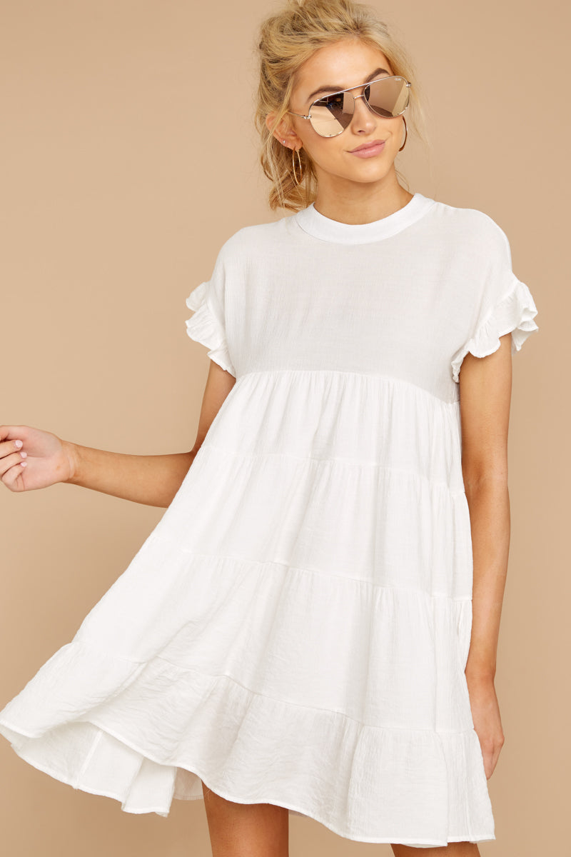 4 Nothing More Nothing Less White Dress at reddressboutique.com