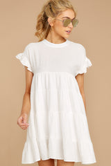 7 Nothing More Nothing Less White Dress at reddressboutique.com