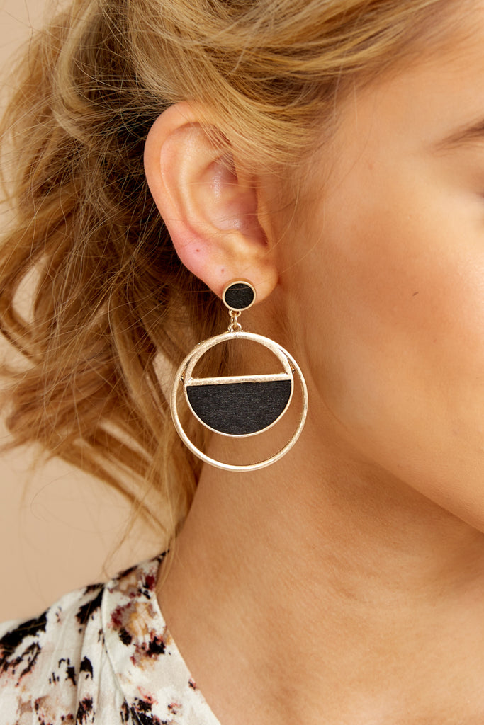 1 More Than One Black Statement Earrings at reddressboutique.com
