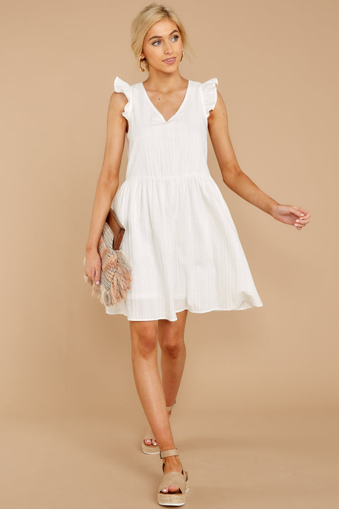 35b2603d80 Flutter Along White Dress