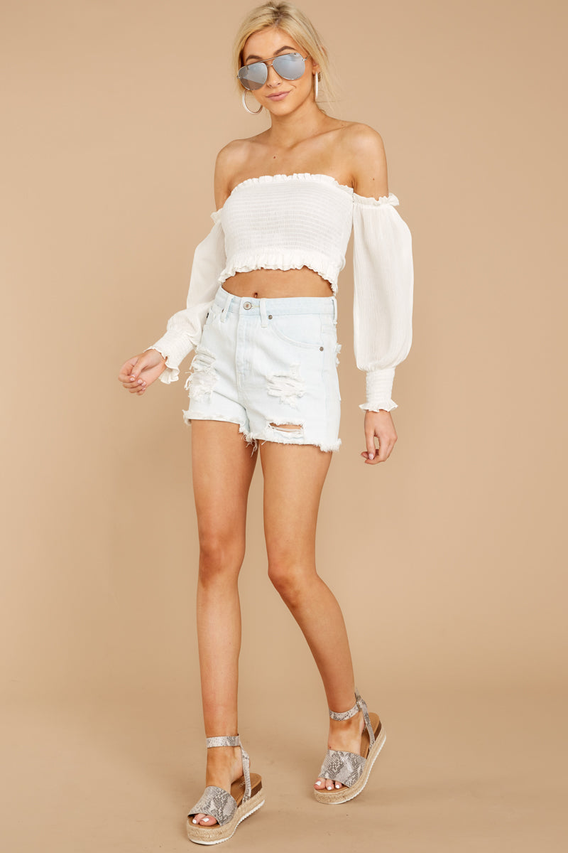 1 First Name Basis White Crop Top at reddressboutique.com