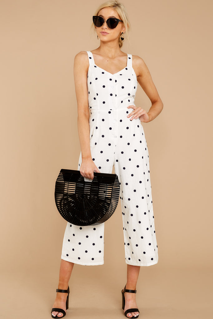 Willa Off The Shoulder Khaki Polka Dot Dress
