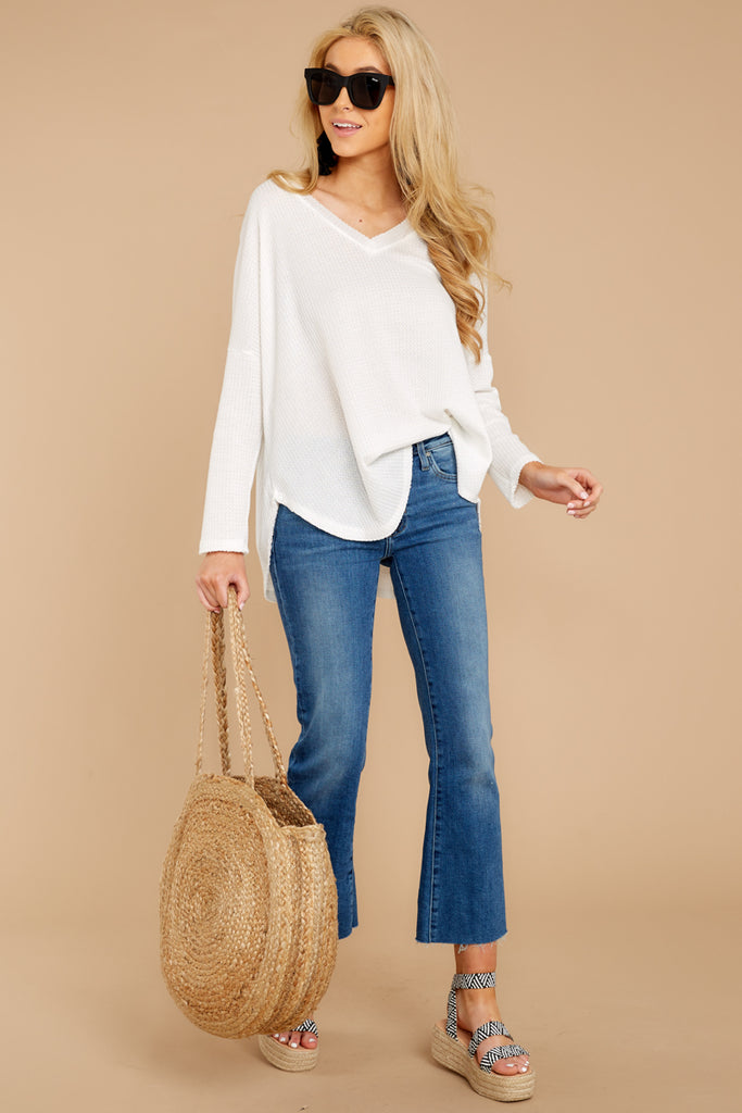 4 A Night In Ivory Knit Top at reddressboutique.com