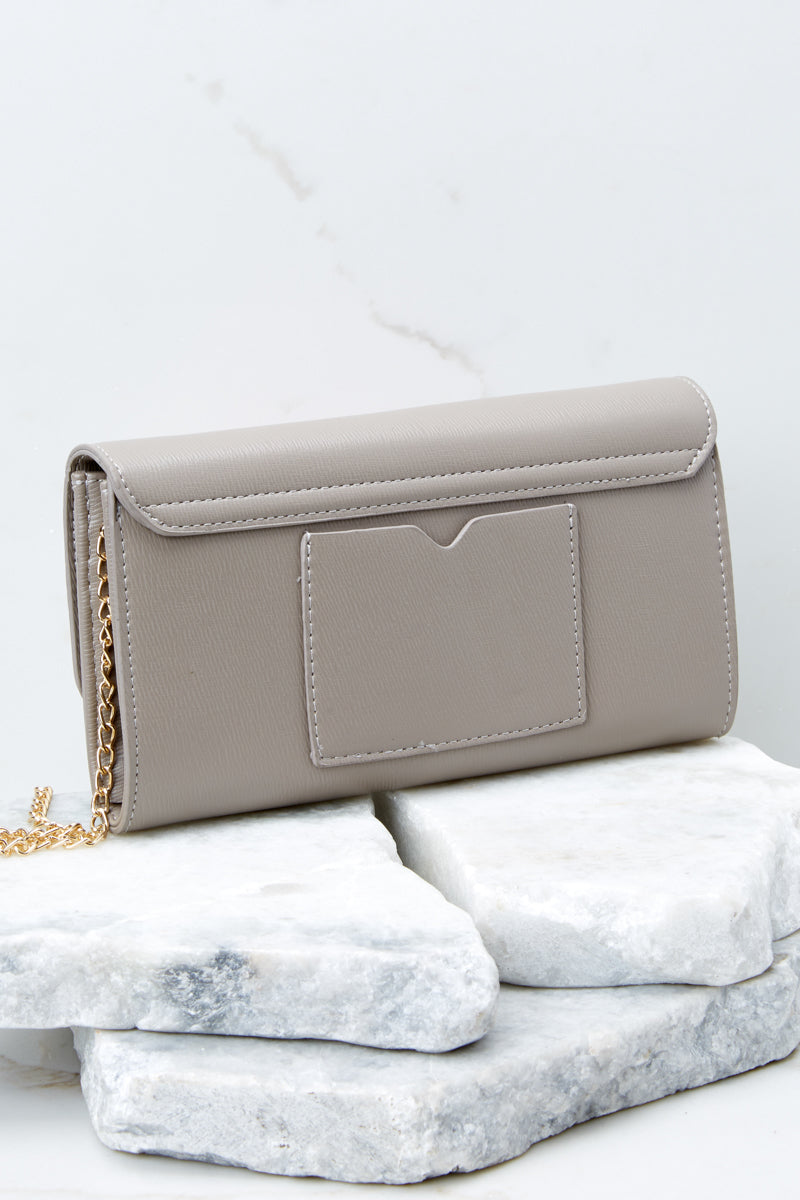 Stamp Of Approval Taupe Clutch