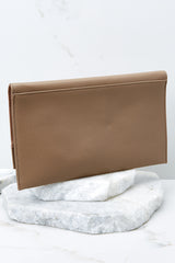 5 Stealing Hearts Brown Tasseled Clutch at reddressboutique.com