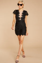 2 Some Nights Black Lace Dress at reddressboutique.com