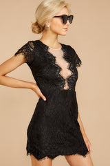 3 Some Nights Black Lace Dress at reddressboutique.com