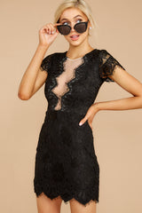 5 Some Nights Black Lace Dress at reddressboutique.com