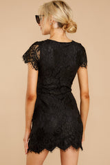 6 Some Nights Black Lace Dress at reddressboutique.com