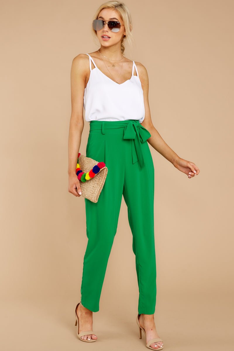 3 Call It Now Kelly Green Pants at reddress.com
