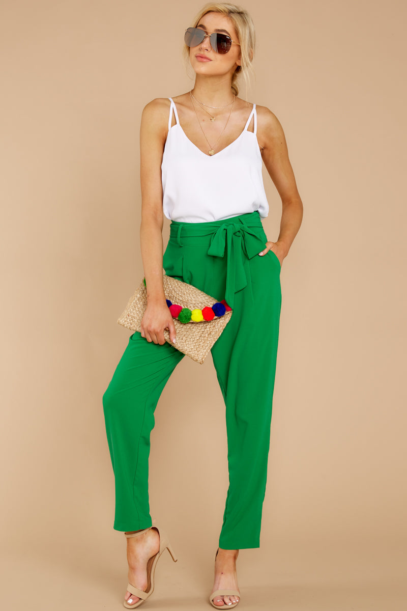 4 Call It Now Kelly Green Pants at reddress.com