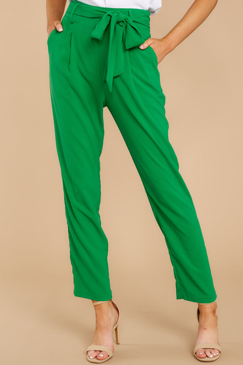 5 Call It Now Kelly Green Pants at reddress.com