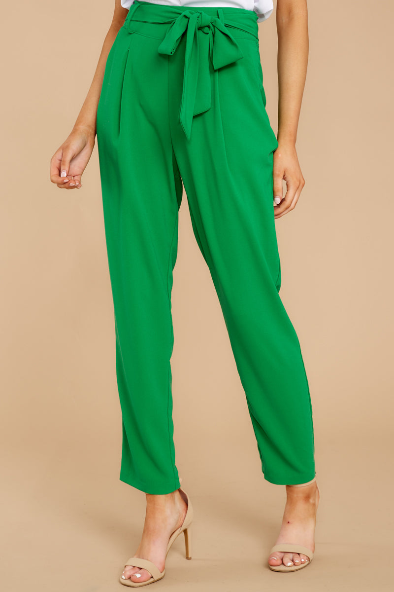 1 Call It Now Kelly Green Pants at reddress.com