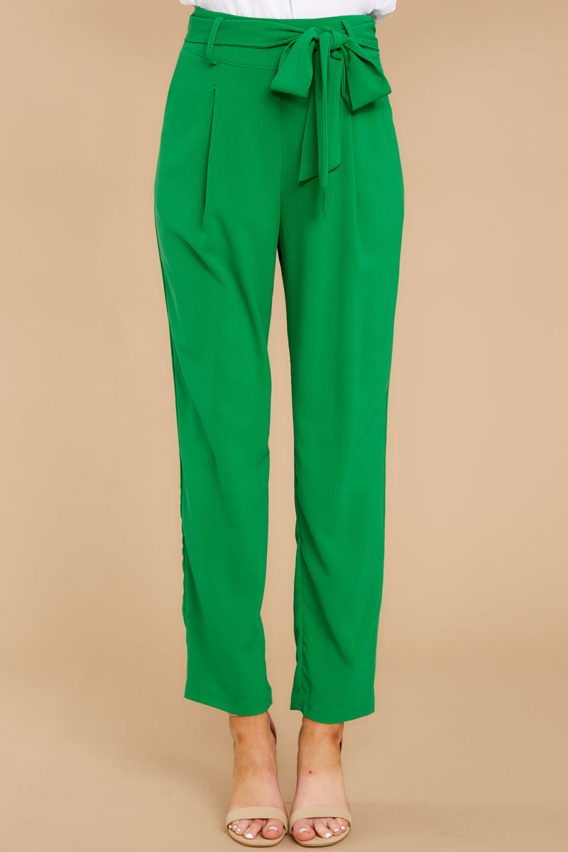 6 Call It Now Kelly Green Pants at reddress.com