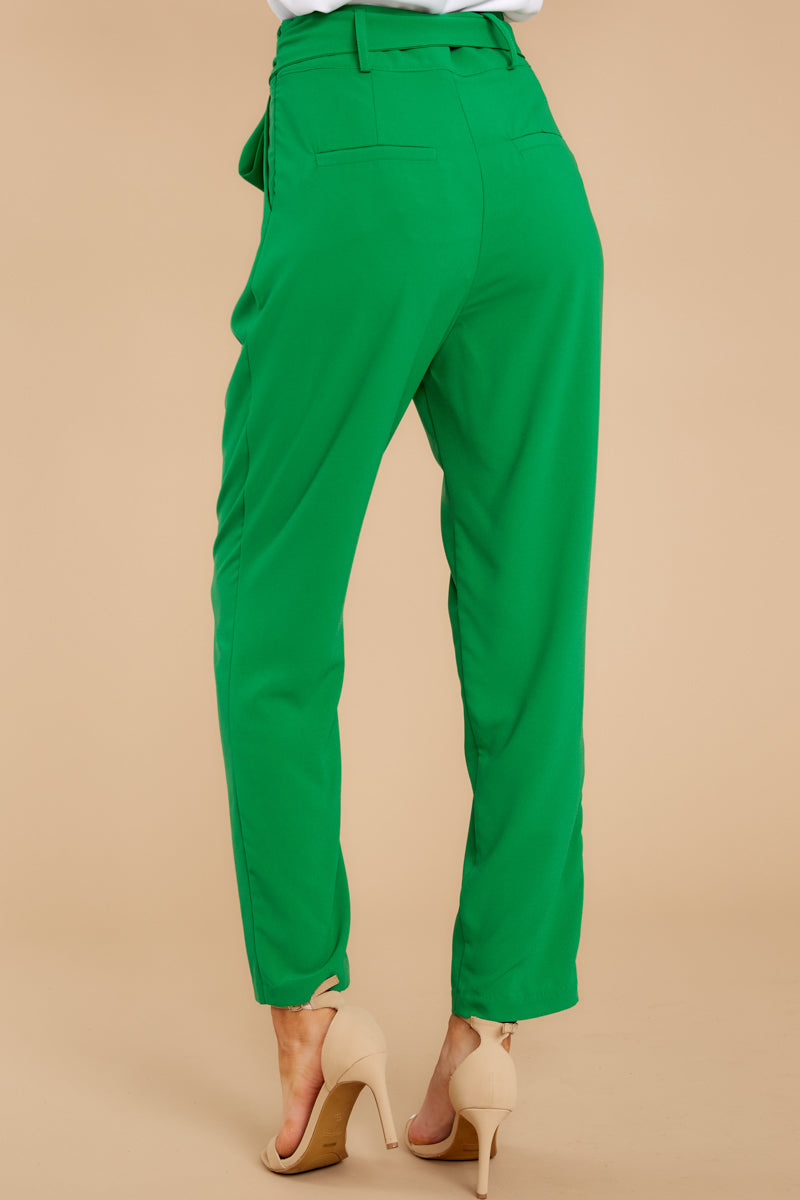 7 Call It Now Kelly Green Pants at reddress.com