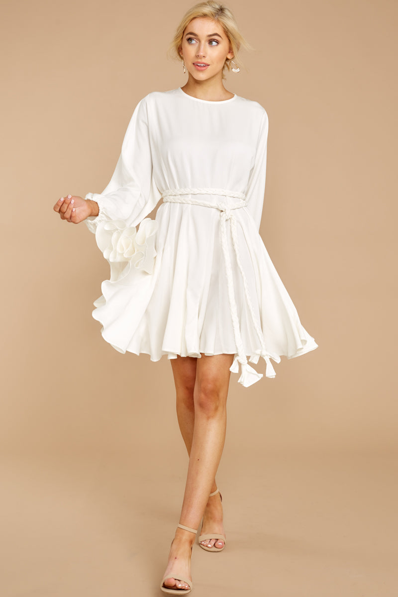 1 Everyday Here White Dress at reddressboutique.com