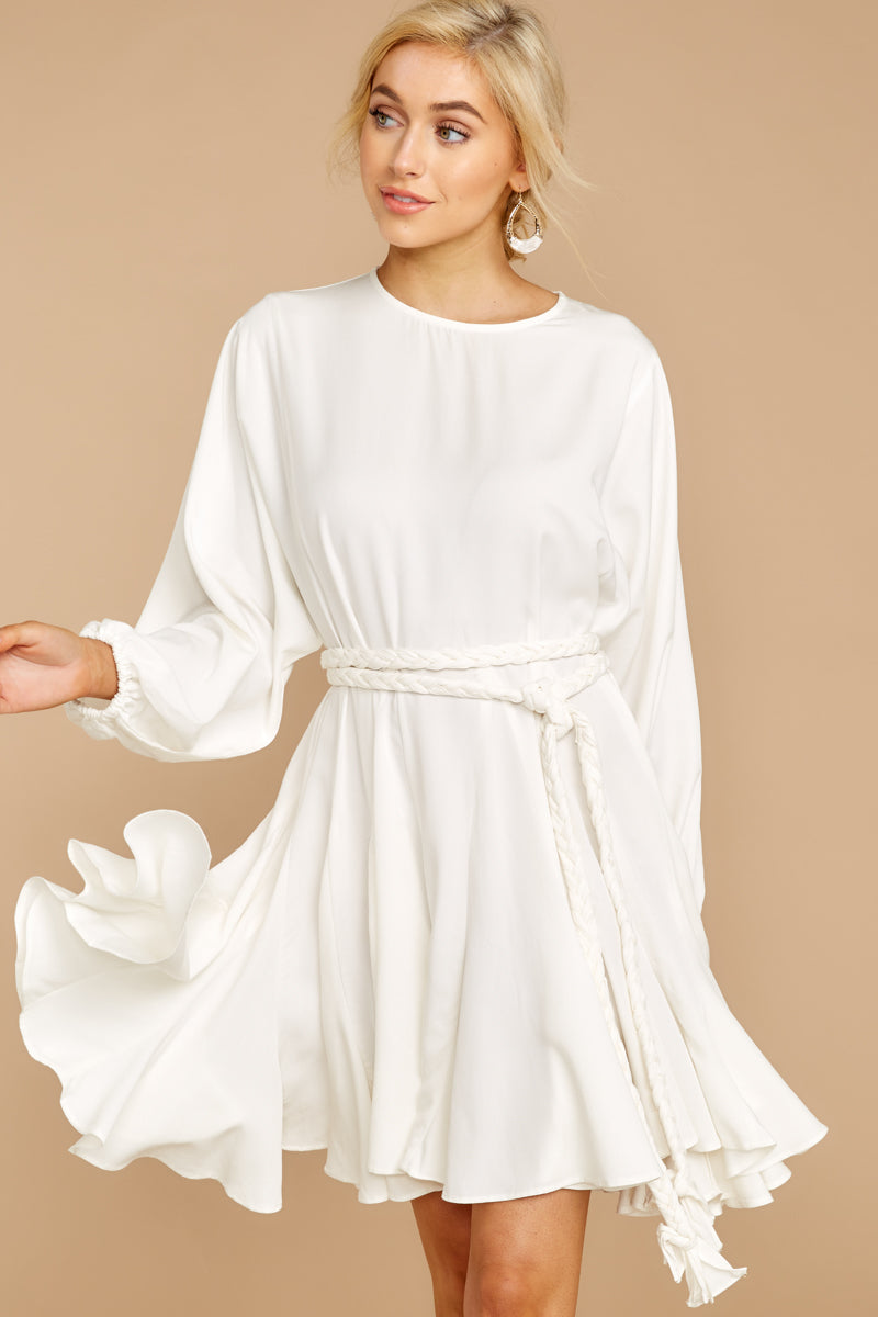 6 Everyday Here White Dress at reddressboutique.com