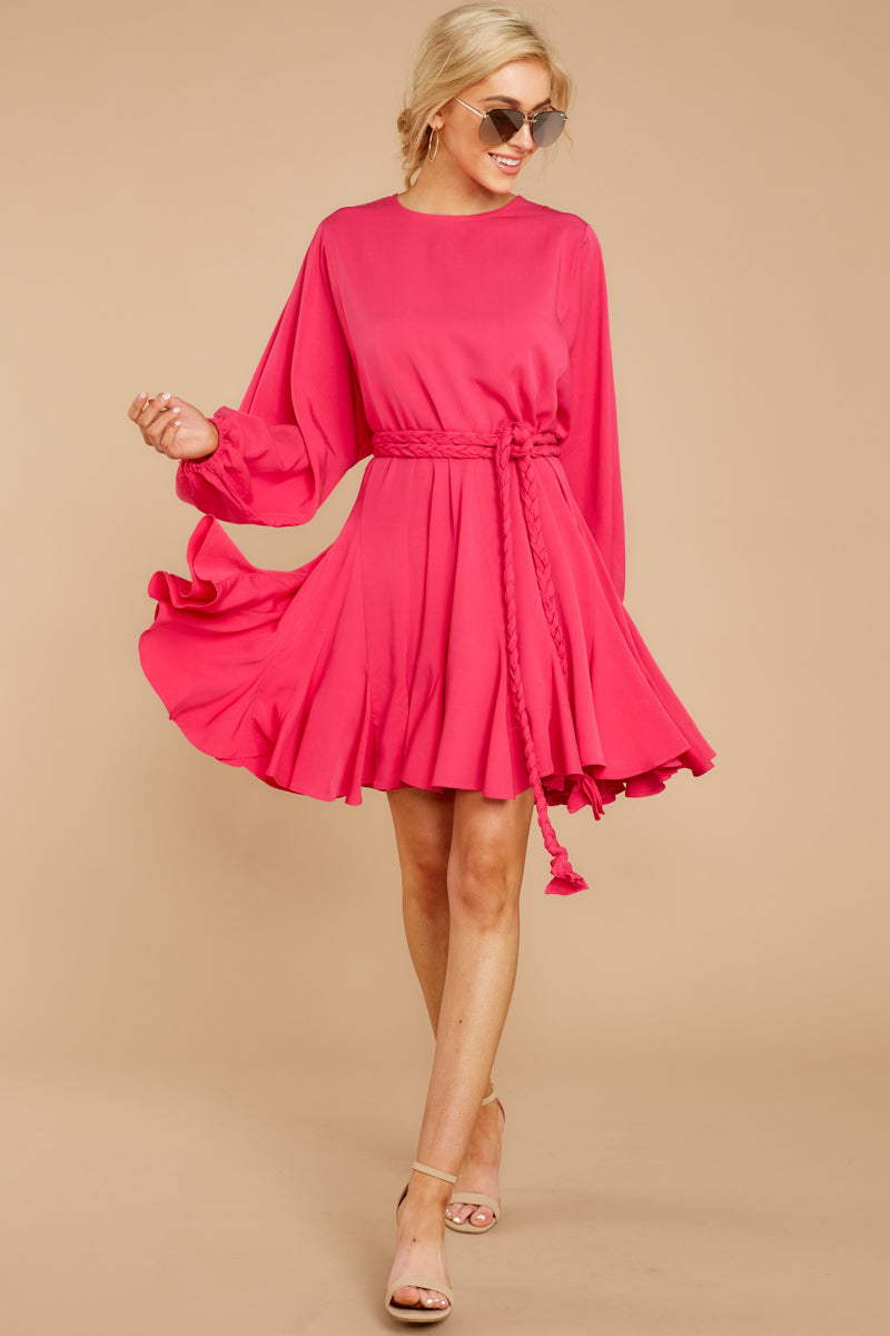 2 Everyday Here Hot Pink Dress at reddressboutique.com