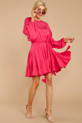 3 Everyday Here Hot Pink Dress at reddressboutique.com