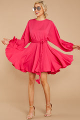 1 Everyday Here Hot Pink Dress at reddressboutique.com
