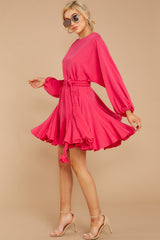 4  Everyday Here Hot Pink Dress at reddressboutique.com