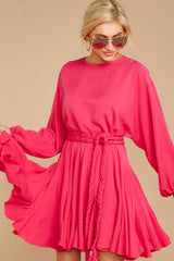 5 Everyday Here Hot Pink Dress at reddressboutique.com